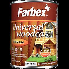Лак для наружных работ Farbex ПФ-170, бесцветный 0,75 л