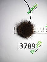 Меховой помпон Норка, Коричневый, 5 см, 3789