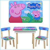 Детский столик Свинка Пеппа Vivast 503 со стульчиками Peppa Pig