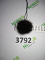 Меховой помпон Норка, Коричневый, 4 см, 3792