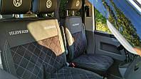 """Модельные чехлы Volkswagen T5 / Фольксваген Т5 (1+1) 2003-2013 """"Нубук"""", фото 1"""