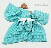 """Детский плед для новорожденного в кроватку и коляску """"Мечта"""" (бирюза)"""