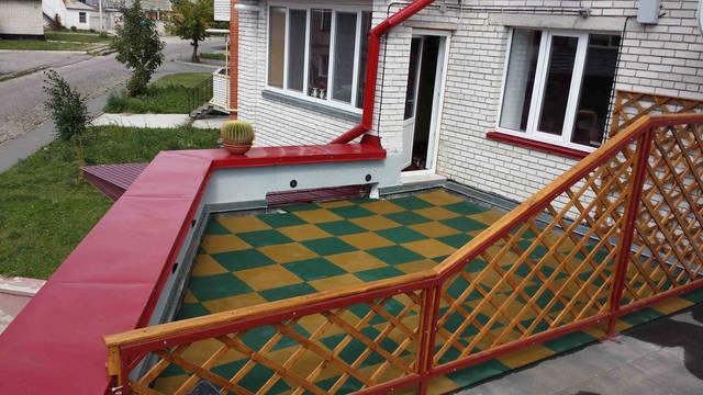 Веранда на крыше (укладка) 2