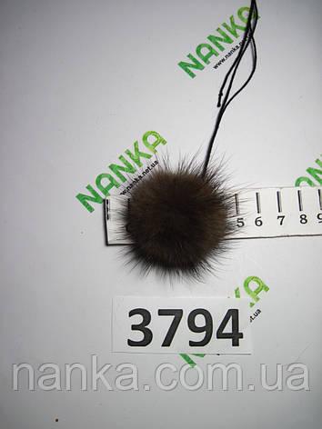 Меховой помпон Норка, Коричневый, 4 см, 3794, фото 2