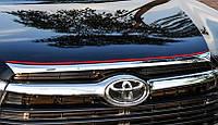 Toyota Highlander XU50 2014 накладка хром на капот короткая