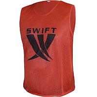Манишка тренировочная SWIFT Training Bib красная (сетка) размер XL, XXL