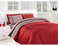 Комплект постельного белья тм First Choice Vizon-bordo