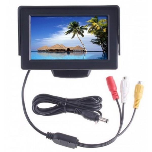 Дисплей автомобильный LCD 4.3'' для двух камер 043 - Мегасвит в Киеве