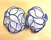 Банты ручной работы на резинке, диаметр 8 см