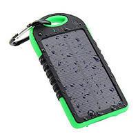 Внешнее портативное зарядное устройство (аккумулятор) на солнечных батареях  Power Bank Solar 20000 mAh (пауэрбанк )
