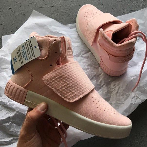 Женские кроссовки Adidas Tubular Invader Pink, Копия