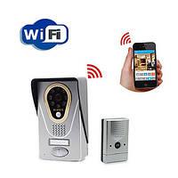 WiFi видеодомофон беспроводный, WiFi видеоглазок с записью и управлением через Iphone/Android (KIVOS KDB 400)