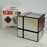 Кубик Рубика 2х2 зеркальный Shengshou Mirror серебро (кубик-рубика)