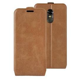 Чехол книжка для LG Stylus 3 M400DY вертикальный флип, Гладкая кожа, коричневый
