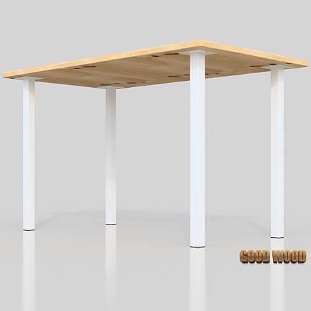 Стол Ст-10 (Ш 1200мм) ,черный или белый, из дерева и металла
