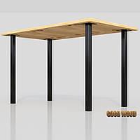 Стол Ст-10 (Ш 1400мм) ,черный или белый, из дерева и металла