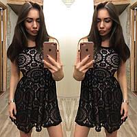 Платье женское из мягкого гипюра Уty, фото 1