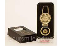 Электроимпульсная зажигалка брелок USB в подарочной упаковке HONEST PZ4687C, сувенирная, карманная зажигалка