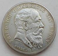 Германия 5 марок Баден 1907 г. копия и480
