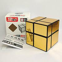 Кубик Рубика 2х2 зеркальный Shengshou Mirror золото (кубик-рубика)