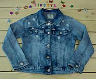 Модный джинсовый пиджак  на девочку рост 128-158 см