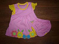 Детское летнее платье с цветами