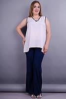 Шабо. Женские брюки больших размеров. Синий. 50