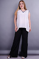 Шабо. Женские брюки больших размеров. Черный. 50