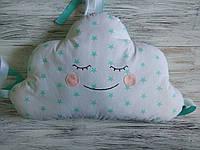 Комплект защитные бортики подушки в детскую кроватку 4 бортика и 2 облака