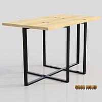 Стол журнальный СтЖ-3 (Ш 1000) черный или белый, из дерева и металла