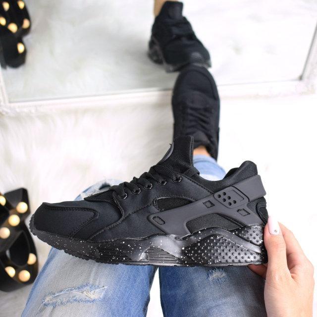 3cf208e512de Кроссовки женские Nike Huarache черные подошва с напылением 3528 ,  спортивная обувь