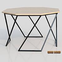 Стол журнальный СтЖ-4 (Ш 850) черный или белый, из дерева и металла