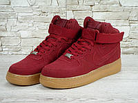 Женские кроссовки Nike Air Force 1 Suede (red)