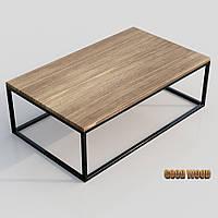 Стол журнальный СтЖ-5 (Ш 1000) черный или белый, из дерева и металла