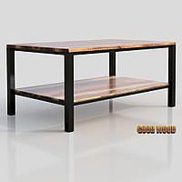 Стол журнальный СтЖ-7 (Ш 1000) черный или белый, из дерева и металла