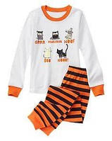 Пижама бело-оранжевая с животными