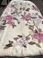 """Чудесный плед велюр - акрил """" Pink spring flowering"""""""