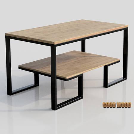 Стол журнальный СтЖ-8 (Ш 1000) черный или белый, из дерева и металла