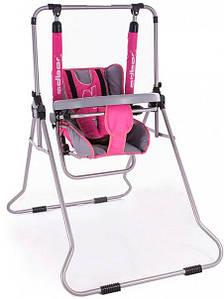 Качель Adbor N1 (со столиком) розовый-графит