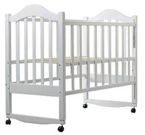 Кровать Дина Клен (Качалка) Крашеная белая