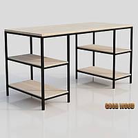 Стол письменный СтП-3, черный или белый, из дерева и металла