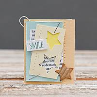 Открытка мини Smile ручной работы