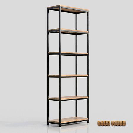 Стеллаж Сж-3, черный или белый, из дерева и металла