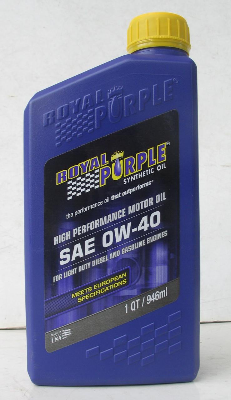 Масло моторное АВТО Royal Purple API 5w-40 фасовка 0,946л /1 кварта - REGIK.COM.UA автоаксессуары и тюнинг в Одессе