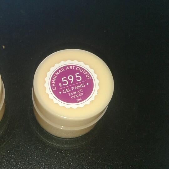Гель-краска Canni №595 яркий малиновый