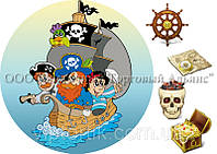 Печать съедобного фото - Ø 21 - Cахарная бумага - Пираты