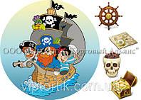Печать съедобного фото - Ø 21 - Вафельная бумага - Пираты