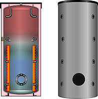 Буферная емкость для отопления Meibes SPSX-F 1100 (мультибуфер, несколько источников тепла) без изоляции