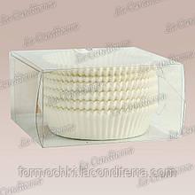 Белые формы для кексов 10а (Ø80, h - 25 мм), 150 шт.