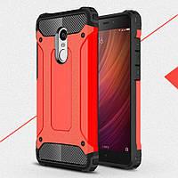 Чехол накладка TPU Immortal Armor для Xiaomi Redmi Note 4 красный